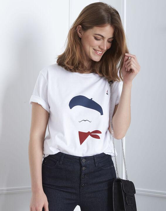 Tee-shirt écru imprimé Palo Maison FT PhotoZ | 1-2-3