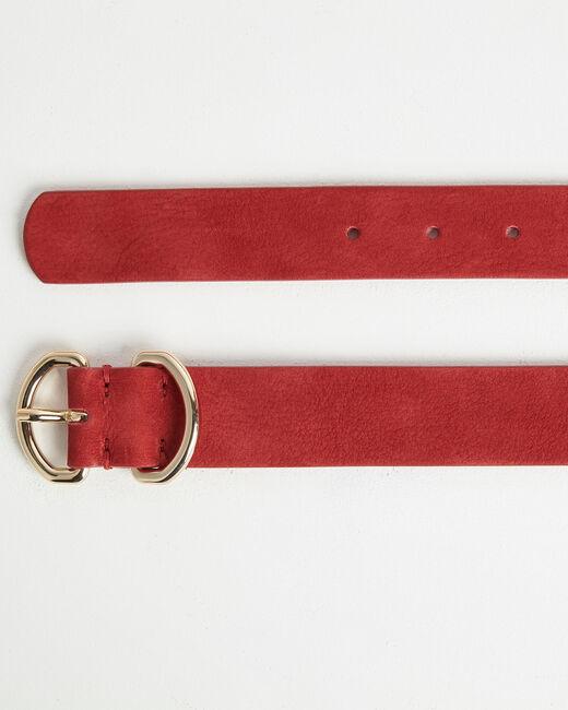Roxana velvet-effect wide fuchsia leather belt (2) - 1-2-3