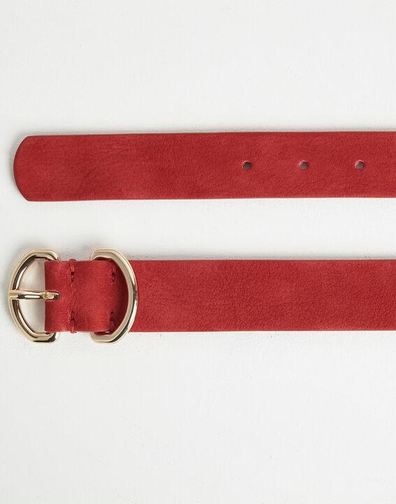 Roxana velvet-effect wide fuchsia leather belt PhotoZ | 1-2-3