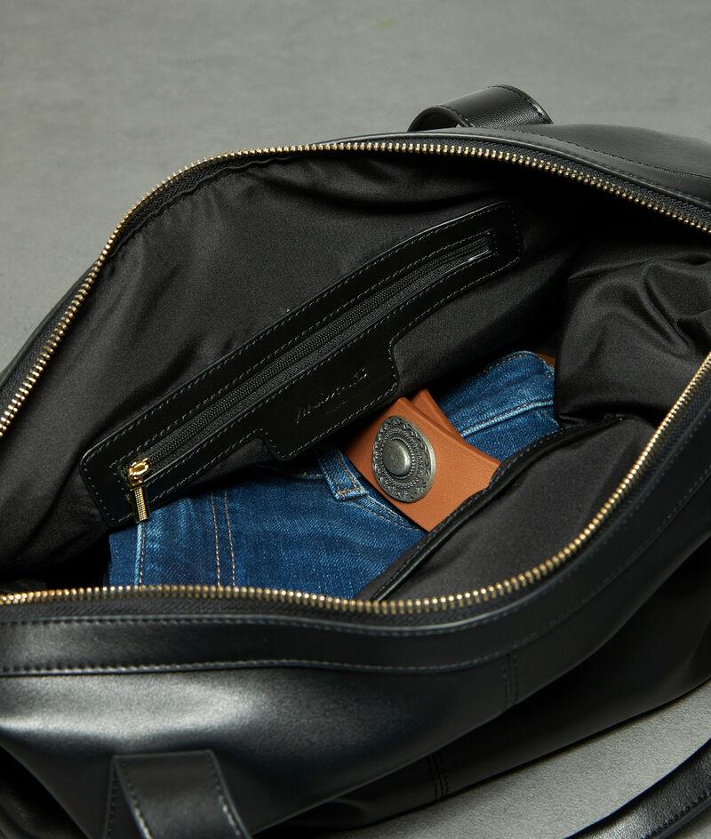 Tasche mit Reißverschluss aus weichem Leder schwarz Jane PhotoZ | 1-2-3
