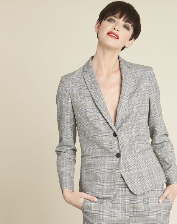 Grey Jacket with Prince of Wales design (2) - 1-2-3