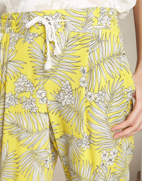 Silae floral printed yellow trousers PhotoZ | 1-2-3