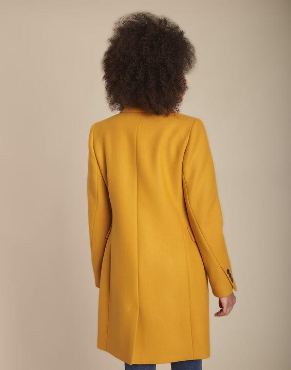 Plume yellow straight-cut wool mix coat (4) - 1-2-3