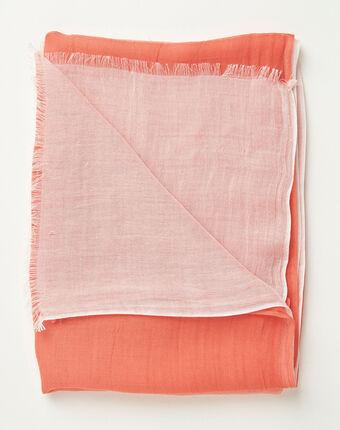 Alexa tie dye effect coral scarf light pink.