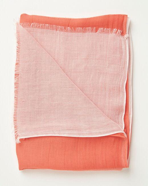 Alexa tie dye effect coral scarf (1) - 1-2-3