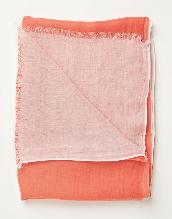 Alexa tie dye effect coral scarf PhotoZ | 1-2-3