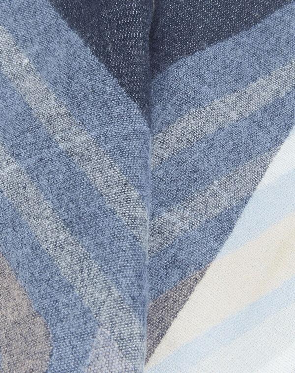 Marineblauer Schal mit Motiven Fabien (1) - 1-2-3