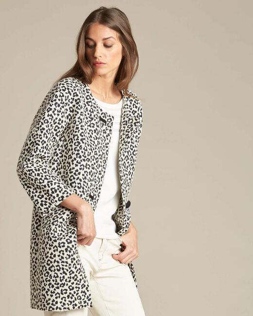 Kelly jacquard jacket in leopardskin print (2) - 1-2-3