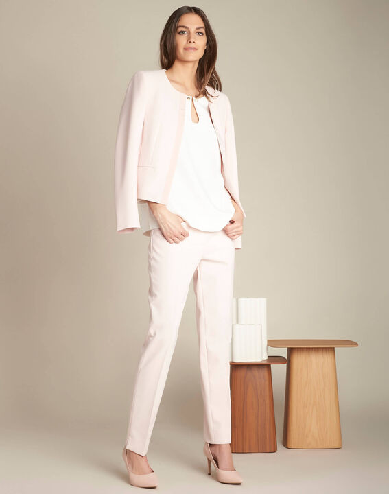 Gerry ecru blouse with jewelled detailing (2) - 1-2-3