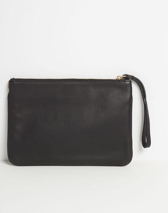 Droopy zebra print clutch with leather straps PhotoZ | 1-2-3