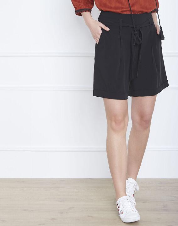 Schwarze Shorts mit Gürtel Sun (1) - Maison 123