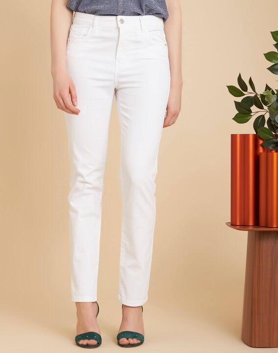 Vendôme white slim-cut 7/8 length jeans (3) - 1-2-3