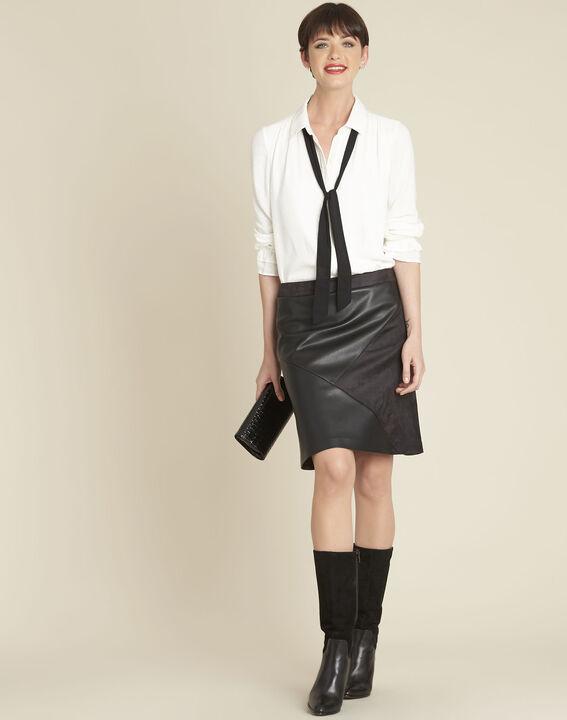 Calia ecru blouse with tie (2) - 1-2-3
