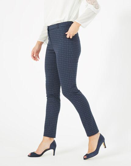 Pepper dark indigo jacquard trousers (1) - 1-2-3