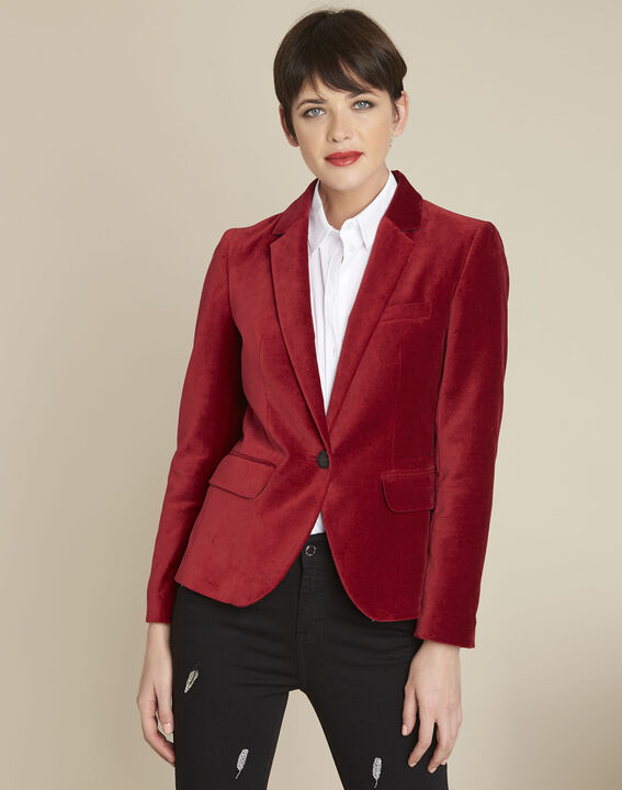 Veste rouge en velours Silvana PhotoZ | 1-2-3