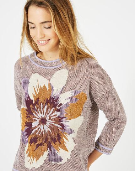 Pull imprimé fleur Pavonia (2) - 1-2-3