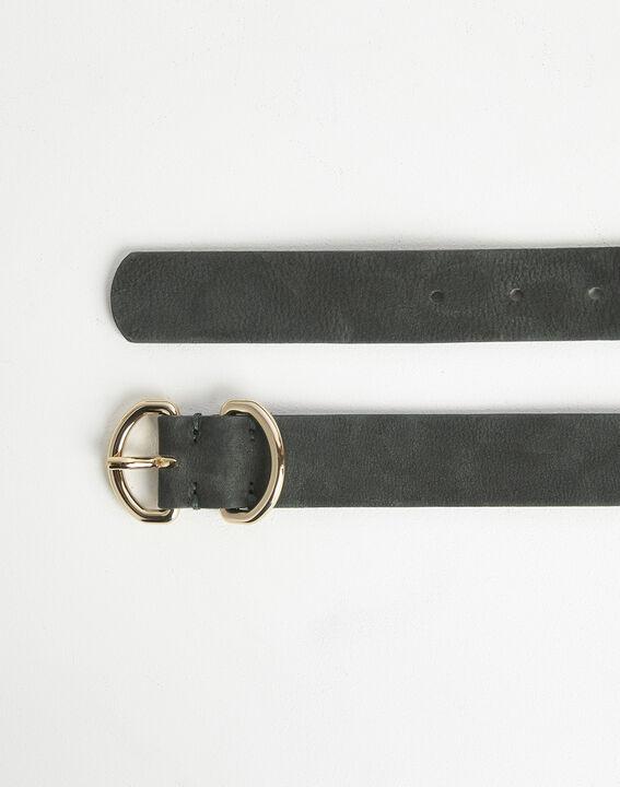 Roxana velvet-effect wide green leather belt (2) - 1-2-3
