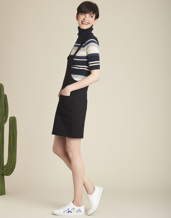 Axelle black skirt with pockets and braces PhotoZ | 1-2-3