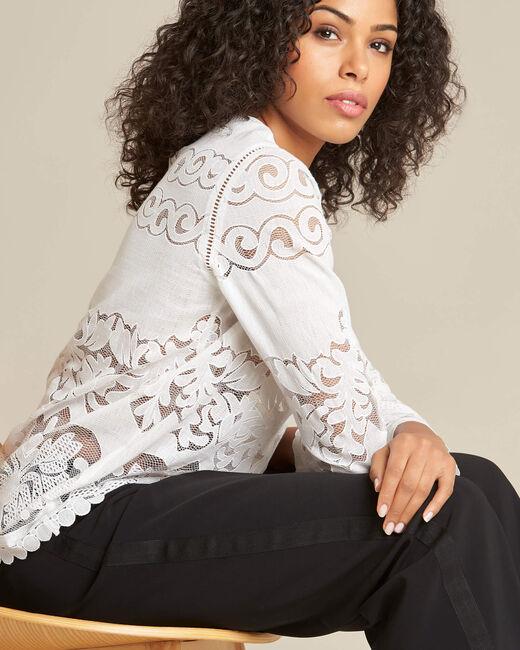 Gabin ecru lace blouse (1) - 1-2-3