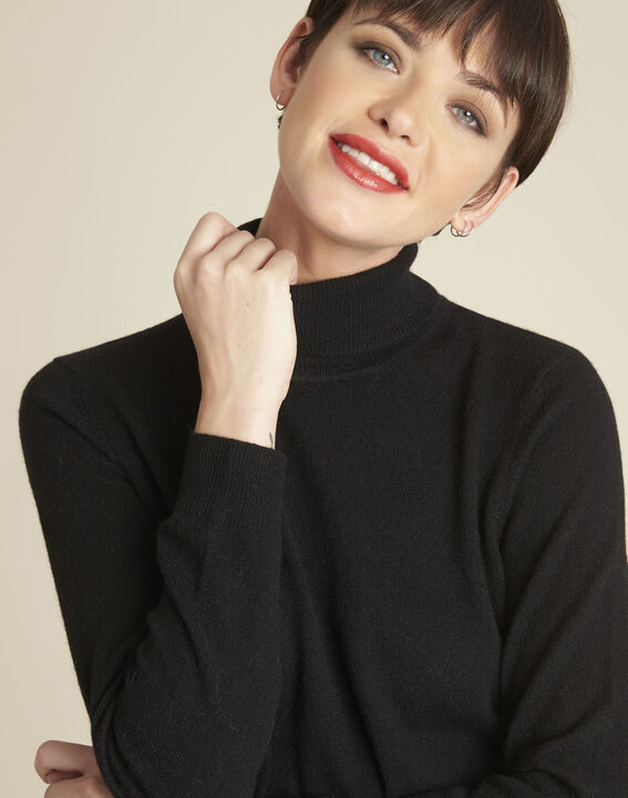 Berceuse black turtleneck cashmere pullover (3) - 1-2-3