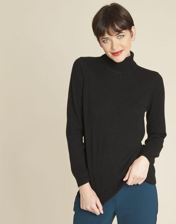Zwarte trui van kasjmier met rolkraag Berceuse PhotoZ | 1-2-3