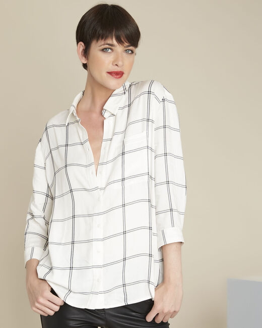 Darwin ecru checked blouse (2) - 1-2-3
