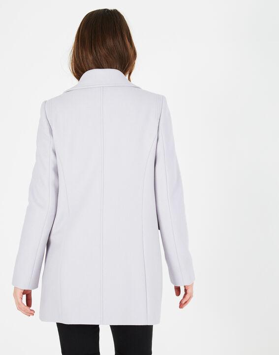 Manteau gris perle en laine mélangée Oryanne (5) - 1-2-3