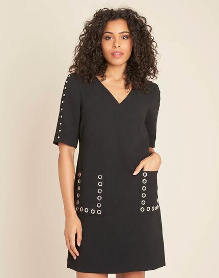 Plume black crepe dress (3) - 1-2-3