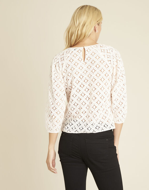 Nude blouse van kant Caoula (4) - 37653