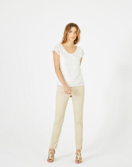 T-Shirt mit silbernen Streifen Baya (5) - 1-2-3