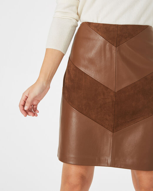 Fleur dual-fabric toffee skirt (2) - 1-2-3