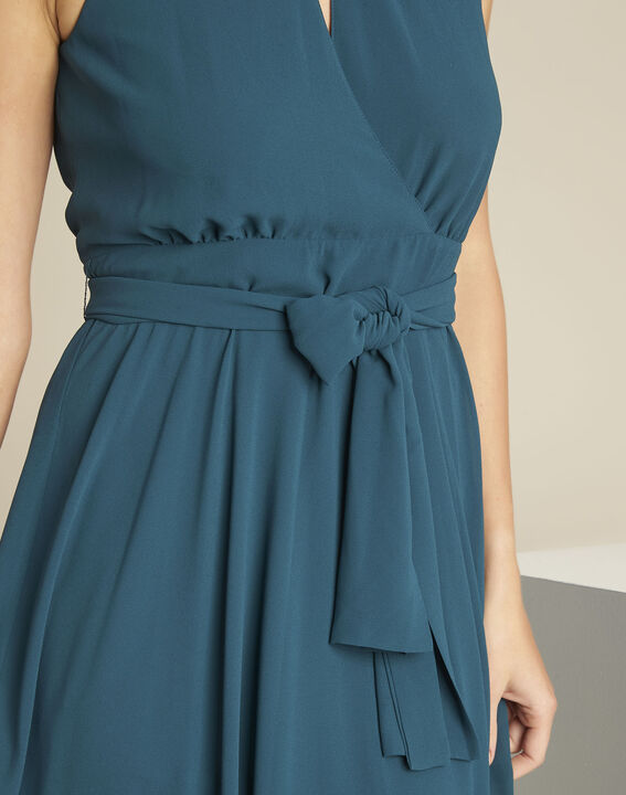 Nancy emerald green fitted dress (2) - 1-2-3