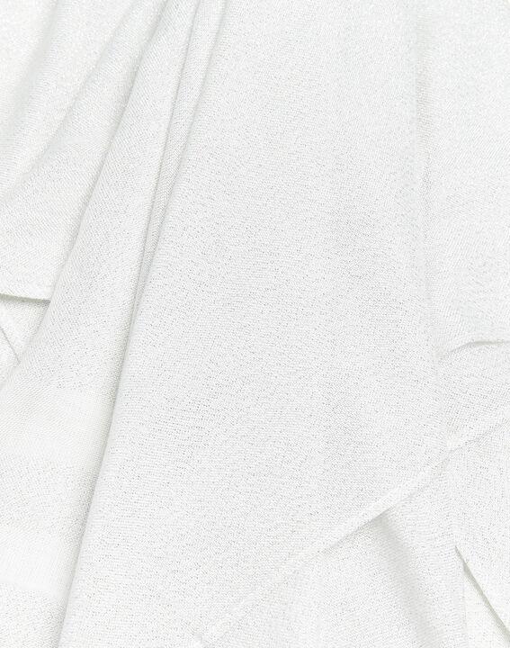 Ecrufarbener Schal mit Lurex-Streifen Fortune (2) - 1-2-3