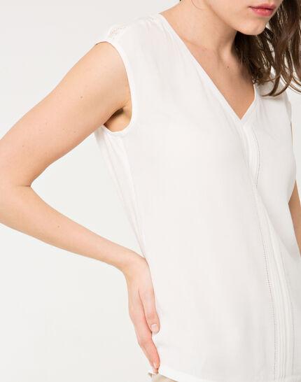 Ecrufarbenes T-Shirt mit Spitze Next (2) - 1-2-3