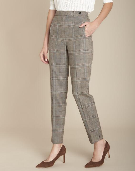 Pantalon cigarette jacquard Prince de Galles Lara PhotoZ | 1-2-3