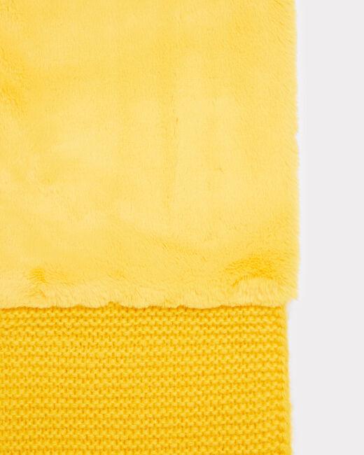 Echarpe jaune ronde en laine mélangée Tigresse (2) - 1-2-3