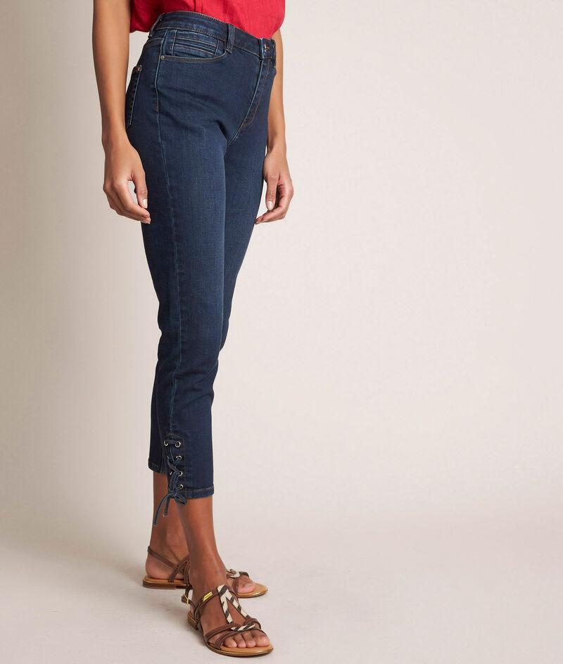 L'iconique slim: jean à lacets brut Agathe PhotoZ | 1-2-3