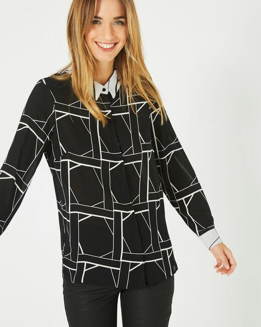 Destiny black printed blouse (1) - 1-2-3