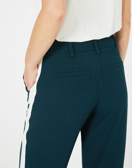 Pantalon vert foret fluide bande côté Kamelia (4) - 1-2-3