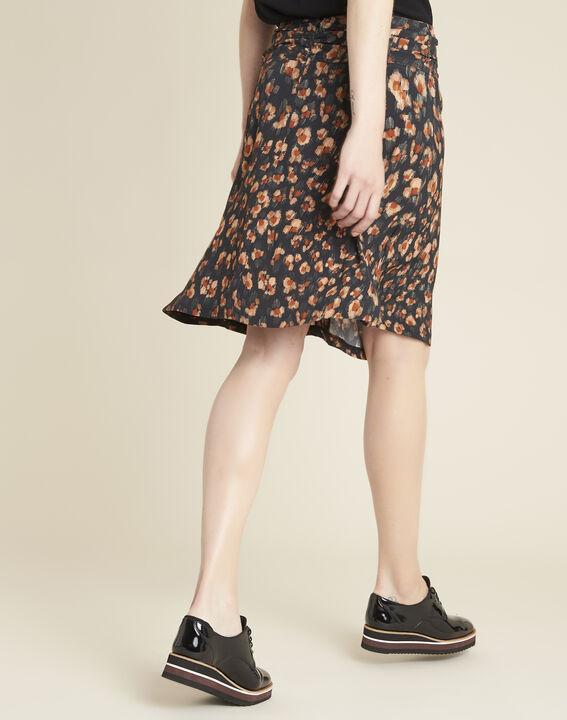 Astuce black skirt with an animal hide print  (4) - 1-2-3