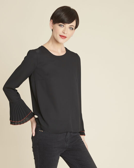 Caroline black blouse with jewelled detailing (1) - 1-2-3