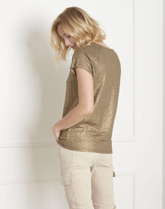 Tee-shirt kaki brillant Pipper (4) - Maison 123