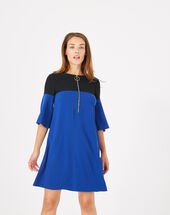 Alexia two-tone dress royal blue.