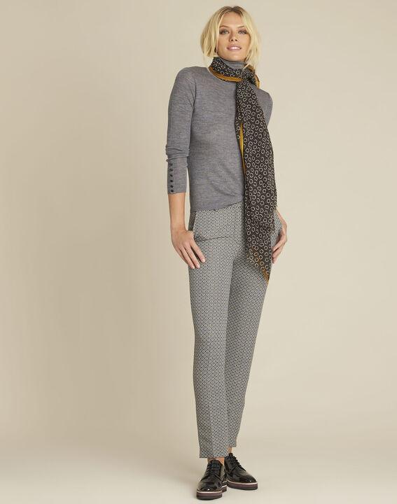 Basile grey fine-knit turtleneck pullover (2) - 1-2-3