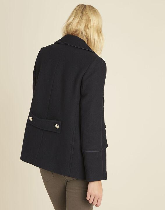Elliot navy blue parka-style coat (4) - 1-2-3