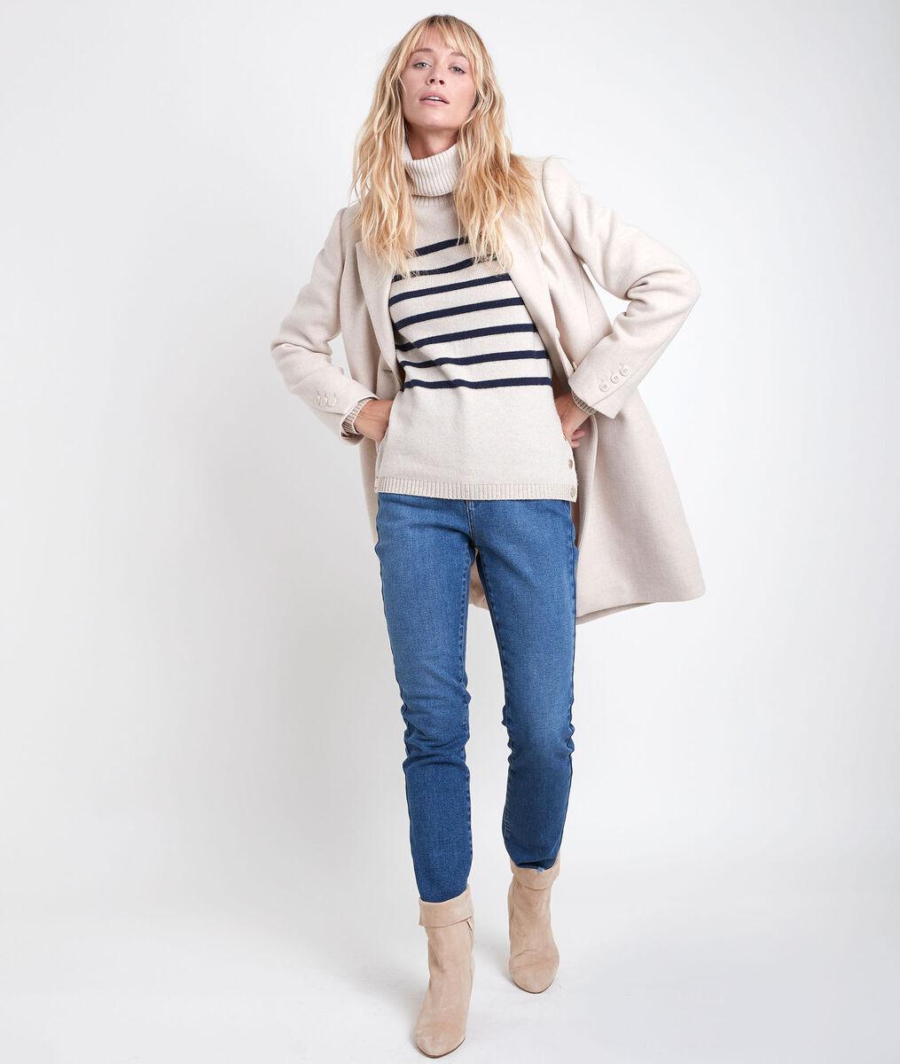 Manteau droit en laine recyclée Plume PhotoZ | 1-2-3