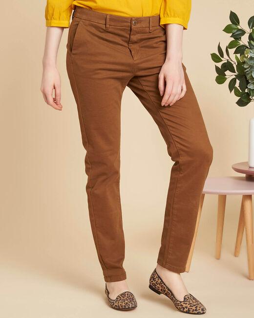 Pantalon marron chino Valentin (2) - 1-2-3