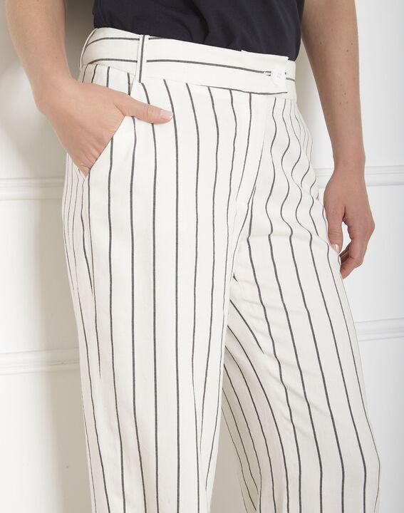 Pantalon écru rayé Gaylord (4) - Maison 123