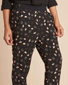 Ginko black foliage-print trousers (4) - 1-2-3