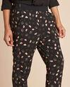 Pantalon noir imprimé feuillage Ginko (4) - 1-2-3